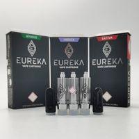 Lo nuevo Eureka Vape Pen 0,8 ml 1,0 ml Carros de cerámica 510 cartuchos vacíos Vape Disposbale de empaquetado de cigarrillos electrónicos