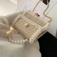 Engenhoso 2021 totes bolsa feminina elegante pérola decente decente de alta qualidade designer de lã bolsa de bolsa de ombro messenger sacos pur