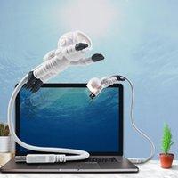 노트북 PC 노트북 Crestech을위한 USB 빛 LED 밤 빛 크리 에이 티브 우주인 우주 비행사 LED 유연한의 USB 라이트