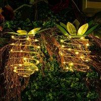 밤 파인애플 태양 광 램프 요정 밤 빛 예술 홈 장식 VT1440 매달려 다채로운 방수 LED 조명 정원 조명을 점등