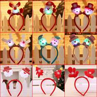 Boże Narodzenie Zabawki Miga Pałąk Light Hair Band Led Up Hairbands Decoration Decoration Party Accessory Funny