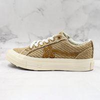 Converse One Star x Golf Le Fleur TTC 2019 moda tendência Low Top de renda informal sapatos de lona rua atirando ao ar livre retro respirável populares