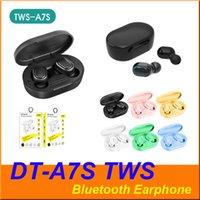 TWS A7S DT-A7S Bluetooth drahtloser Kopfhörer-Kopfhörer-Taste Steuer Earbuds Wasserdichte Stereo Sport Kopfhörer für iphone Android-Smartphone