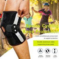 Doppel-Stahlplatte Knieschützer Brace Patella Open Unterstützung Kneepad Unterstützung Fitness-Schutz