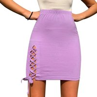 Skirt Summer High Waist Was Thin Solid Color Fashion Casual Skirt Skirt Womens Designer Split A Line