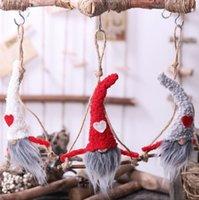 أفخم غنوم دمية عيد الميلاد السويدية غنوم سانتا دمية القطيفة شجرة عيد الميلاد الرئيسية حلية أفخم دمية KKA8034
