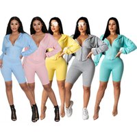Womens Sexy Tracksuit Shorts Outfits Sportswear Fashion Top ...