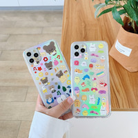 Funda telefónica de patrón de dibujos animados para iPhone 11 Pro Max Soft TPU cubierta móvil iPhone 11 Pro Lens Protection Funda para teléfono para 7-11 Pro Max