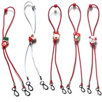 Maschera di Natale dei bambini del fumetto di estensione cordino regolabile Babbo Natale Maschera Anti-perso cordicella del collo di trasporto