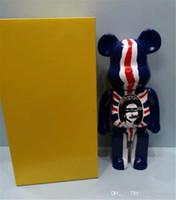 400٪ 28 سنتيمتر العلم البريطاني فيلم بيربريك بير أرقام لعبة لجمع @ rbrick الفن نموذج العمل الديكور اللعب هدية