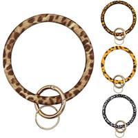 New Hot Silica gel Porter Bracelet Keychain géométrique silicone pour femmes Keyring hommes Trendy Cercle poignet Accessoires 2020 Vente Hot