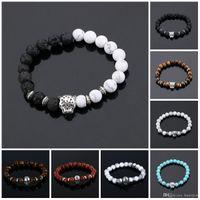 Charm Armband Männer Armbänder Gold Natursteine Für Frauen Mann Modeschmuck Perle Armband