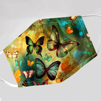 Design Face Mask Butterfly Printed Protective Mask Dustproof...