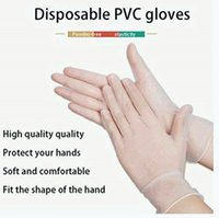 Disposable PVC Gloves Thickening Transparent Protective Glov...