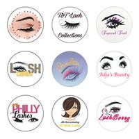 Cartões de visita 200pcs Cílios logotipo adesivos personalizados Limpar Etiquetas Wedding marca Logo Mink Lashes Papel Lipgloss Tubes etiqueta