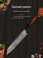 Küche 13 Zoll praktisches Kochmesser Damaskus VG10 Stahl Palisander Küchenmesser scharf Beil Scheibe Geschenkmesser Haushalt Set Gebrauchsmesser