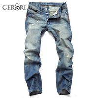 Gersri Hot Sale Casual Straight Slim Cotton High Quality Denim Retail & Wholesale Warm Men Jeans Pants MX200814