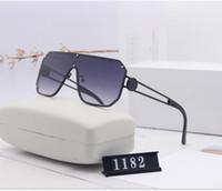 Uomini Occhiali da sole pilota Donne del progettista di marca Gli uomini di lusso Specchio Sun vetro V Oversize femminile 2020 degli occhiali da sole degli occhiali Femminile Flat Top con la scatola