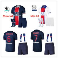 20 21 MBAPPE adult kit maillots de foot soccer Jersey 2020 2021 home suit ICARDI DI MARIA VERRATTI MARQUINHOS MAILLOT footba Sets