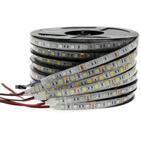 RGB LED Strip Light 5050 2835 DC12V Neon Ribbon Impermeable Flexible LED Cinta de diodo 60leds / M 5M 12V LED Strip para la decoración del hogar
