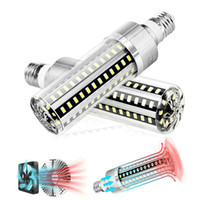E27 LED 옥수수 전구 슈퍼 밝은 25W 50W 110V 220V 5730 LED 조명 팬에 깃털을 쌓아 놓은 깜박임 따뜻한 흰색 흰색 LED 램프