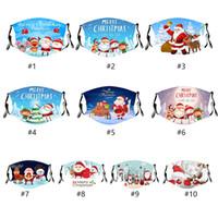 성인 어린이 소년 소녀 메리 크리스마스 산타 사슴 세척 입 커버 다채로운 패브릭 마스크에 대한 재사용 크리스마스 테마 페이스 마스크