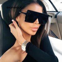الإطار النظارات الشمسية ساحة المرأة نظارات شمسية أنثى نظارات نظارات البلاستيك واضح عدسة UV400 الظل نظارات الموضة الجديدة لتعليم قيادة السيارات