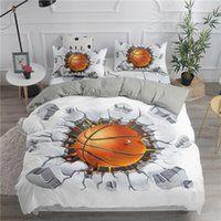 3D Luxury Bedding Set Pallacanestro stampa Home Living Duvet Cover Set decorativo Con federa Bed Set Biancheria