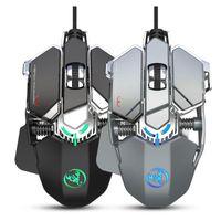 MICE PRO Wired Gaming Mouse Mouse 6400DPI 9key Macro Определение Офисное Gamer Harding Backlit для компьютерного ноутбука PC PUBG