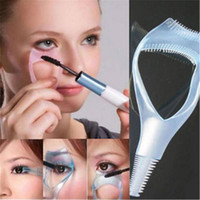 Wimpern Werkzeuge 3 in 1 Make-up Mascara-Schild-Schutz Lockenwickler Applicator Comb-Führer Karte Verfassungs-Werkzeug Schönheit kosmetisches Werkzeug