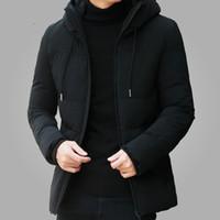 العلامة التجارية سترة الشتاء ملابس رجالية 2020 عارضة مقنعين طوق الأزياء معطف الشتاء سترة ملابس رجالي تناسب دافئ سليم 4XL