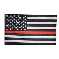 90 * 150cm BlueLine USA polizia Bandiere 2 ° Emendamento Vintage American Flag Polyester Thin Blue Line USA Flag CYZ2820 trasporto marittimo