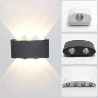 Extérieur étanche IP65 COB LED Porche Lumières Modern Home Decor Up Down Aluminium Lampe de mur Yard Corridor Balcon AC 85-265V