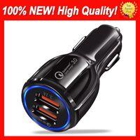 3.0 3.1a Araba Hızlı Şarj Çift USB Qualcomm Hızlı Şarj Araç Şarj Dal USB Hızlı Şarj Telefon Cep Telefonu Için 100% Yeni 100% Fit Sıcak Satış