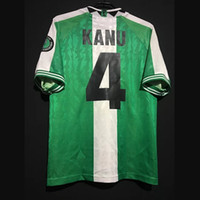 Retro 1996 Okocha Kanu Yekini Oeste Babangida Amokachi Casa Fora de Futebol Kit Classic Vintage Shirt