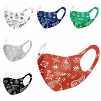 Fashion Ice Silk Face Mask Printed PM2.5 Reusable Breathable Outdoor Protective Windproof Adult Mouth Cover  masks hot sale DHC1139