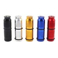 Colorful cilindrico in alluminio Cracker puntura apribottiglie Pollen Press Crema dello sbattitore di fumo strumento di alta qualità Holder Portable