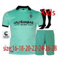 Men + Kids Kit 2020 Borussia Monchengladbach 3rd Soccer Jersey 2020 2021 Pleea Stindl Raffael Peligro Drmic Ginter Camisetas de fútbol