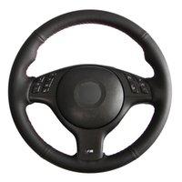 поделки черный Поддельный Рулевая кожа колеса автомобиля Обложка для BMW M Sport 3 серии E46 330i 330Ci 5 серии E39 540i 525i 530i M3 M5 2000-2006