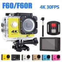 Ultra HD 4K Action Camera WiFi Camcorders 16MP 170 Go Cam Deportiva 2 inch Screen F60 F60R Waterproof Sport Camera pro 1080P cam