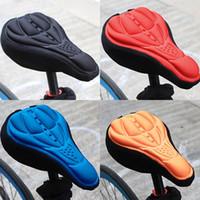 4color assento bicicleta do 3D Silicone Gel Pad sela tampa almofada macia 28 17 centímetros *