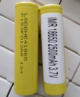 300 stücke Top Qualität inR 18650 HE4 LG Batterien 2500mAh Vapes flach top vape lithium 18650 batterie für samsung box mods pk 25r 30Q vtc6