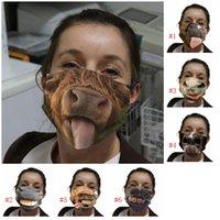 Pano cara engraçado Máscara Dustproof Mascarilla lavável Respirador Cavalo Boca Protective engraçado 3D Printing Spoof Festival Man Woman 4 5wsi D2