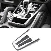 Maj Garniture panneau Accessoires pour la voiture de vitesse Cadre couverture Autocollant ABS carbone Décoration pour Porsche Cayenne 2018 2019 2020