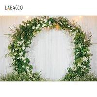 Laeacco Foto Matrimonio sfondo della parete del fiore Corona partito Cerimonia cortina Amore fase Fotografia Sfondo Photocall Photostudio