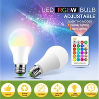 마법의 RGB LED 전구 AC85-265V 스마트 조명 램프 색상 변경 IR 원격 컨트롤러와 Dimmable 3W 5W 10W 15W 스마트 전구