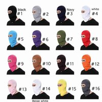 18 Цвет Открытых Балаклавы Спорт шея Face Mask Ski Snowboard Ветер Cap Велоспорт Балаклавы Фитнес Поставка мотоциклы Маска для лица CYZ2642
