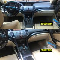 Pour Honda Accord 8 2009-2013 auto adhésif voiture en fibre de carbone autocollants en vinyle autocollants de voiture et décalcomanies Car Styling Accessoires