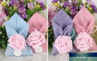 Nouveau style européen Rose décoration florale Faveurs de mariage bonbons Boîtes cadeaux Boîte de Bonbons Sacs nuptiale de douche boîte-cadeau