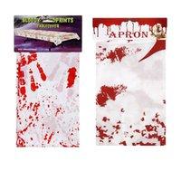 Хэллоуин Кровавой Tablecover Scary Bloodstain Blood Drip Horror Handprint Скатерть Halloween Фартук Кровавые для вечеринок Украшения D82804